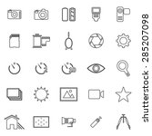 camera line icons on white... | Shutterstock .eps vector #285207098