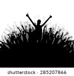 a big crowd with lots of people ... | Shutterstock .eps vector #285207866