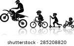 motorbike rider evolution | Shutterstock .eps vector #285208820