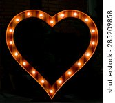 heart symbol with glowing light ... | Shutterstock . vector #285209858