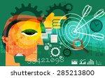 business target abstract  ... | Shutterstock .eps vector #285213800