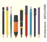 basic drawing and writing tool... | Shutterstock .eps vector #285214580