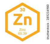 periodic table zinc | Shutterstock .eps vector #285216980