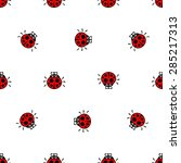 crawling ladybirds red on a...   Shutterstock .eps vector #285217313
