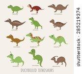set of early carnivorous... | Shutterstock .eps vector #285219374