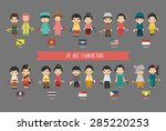 set of 20 asian men and women...