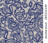 lace seamless pattern | Shutterstock .eps vector #285222149