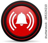 alarm red glossy web icon  | Shutterstock . vector #285224210