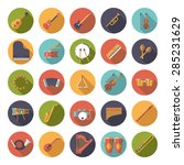 musical instruments circular...   Shutterstock .eps vector #285231629