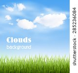 Green Grass Lawn With Clouds O...