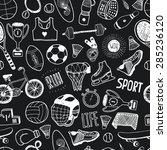 hand drawn doodle sport... | Shutterstock .eps vector #285236120