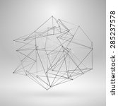 wireframe polygonal element.... | Shutterstock .eps vector #285237578