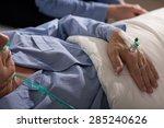 close up of terminally ill man... | Shutterstock . vector #285240626