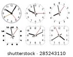 simple minimal clock design... | Shutterstock .eps vector #285243110