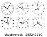 simple minimal clock design... | Shutterstock .eps vector #285243110