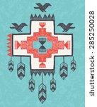 ethnic tribal vintage hand... | Shutterstock .eps vector #285250028