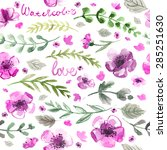 pattern color flowers... | Shutterstock . vector #285251630