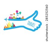 travel and tourism concept... | Shutterstock .eps vector #285252560