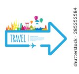 travel and tourism concept... | Shutterstock .eps vector #285252584
