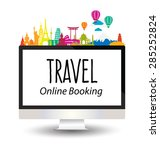 travel and tourism concept... | Shutterstock .eps vector #285252824