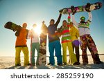Group Of Young People With...