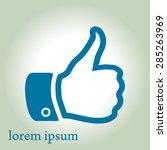 like  icon. hand finger up sign.... | Shutterstock .eps vector #285263969