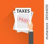 taxes icon design  vector | Shutterstock .eps vector #285264050