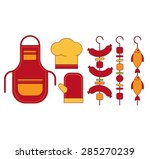 infographic elements food grill ... | Shutterstock .eps vector #285270239