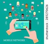 mobile communication technology ... | Shutterstock .eps vector #285270626
