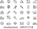 toys set  outlined icons