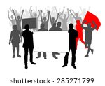 people silhouettes with... | Shutterstock .eps vector #285271799