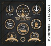 vintage nautical anchor labels... | Shutterstock .eps vector #285272276