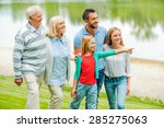 spending quality time with... | Shutterstock . vector #285275063