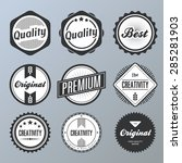 set of retro vintage badges and ... | Shutterstock .eps vector #285281903