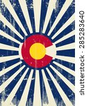 colorado retro sunbeams. a... | Shutterstock .eps vector #285283640
