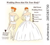infographic of ball gown...   Shutterstock .eps vector #285283730