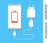 flat vector image of phone ... | Shutterstock .eps vector #285284330