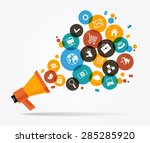 marketing  promotion concept.... | Shutterstock .eps vector #285285920