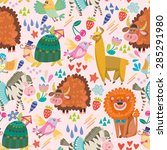 amazing adorable pattern of... | Shutterstock .eps vector #285291980