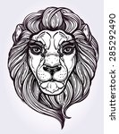 heraldic lion head. isolated... | Shutterstock .eps vector #285292490