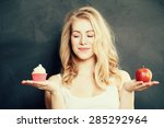 woman with healthy and... | Shutterstock . vector #285292964
