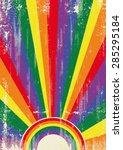 gay vintage sunbeams. a vintage ... | Shutterstock .eps vector #285295184