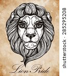 heraldic lion head. isolated... | Shutterstock .eps vector #285295208