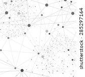 vector network background... | Shutterstock .eps vector #285297164