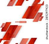 vector abstract geometric shape ... | Shutterstock .eps vector #285297923