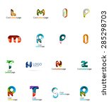 set of new universal company... | Shutterstock .eps vector #285298703