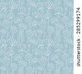 hand drawing ornamental... | Shutterstock .eps vector #285299174