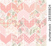seamless patchwork pattern in... | Shutterstock .eps vector #285300824