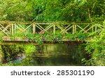 Old Small Bridge Over River...