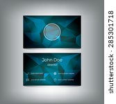 business card template on low...